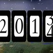 Stock Photo: New Year 2014 Odometer
