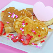 Valentine pancakes — Stock Photo