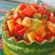 Watermelon fruit bowl — Stock Photo