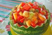 Watermelon fruit bowl — Stock Photo