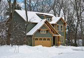 New house in winter — Stock Photo