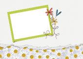 Daisy border with frame — Stock Photo