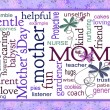 Mother's Day word art collage — Stock Photo
