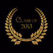 Golden Laurel for Class of 2013 — Stock Photo