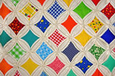Cathedral window quilt — Stock Photo