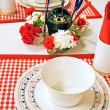 Stock Photo: Nautical place setting