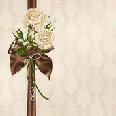 Ivory wedding rose bouquet — Stock Photo