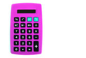 Bold pink calculator — Stock Photo