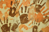 Abstract hand prints — Stock Photo