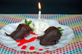 Chocolate covered strawberries — Fotografia Stock