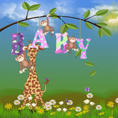 Jungle animals for baby girl — Stock Photo