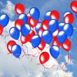 Patriotic balloons — Stock Photo