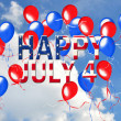 4th of July balloons — Stock Photo