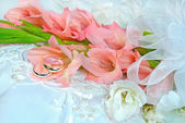 Gladiola wedding bouquet — Stock Photo