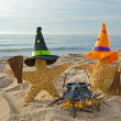 Halloween starfish on beach — Stock Photo #31334295