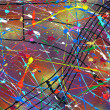 Stock Photo: Contemporary paint abstract