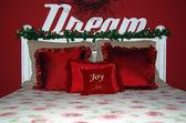 Christmas bedroom — Stock Photo