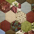 Old-fashioned quilt — Stock Photo