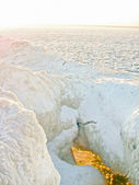 Ice cavern on Lake Michigan — Stock Photo