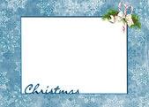 Christmas snowflake frame — Stock Photo