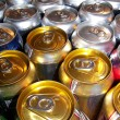 Soda pop cans — Stock Photo
