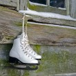 Stock Photo: Hanging ice skates