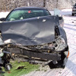 Car wreck in winter — Stock Photo