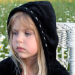 Stock Photo: Little girl with black hoodie