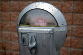 Retro parking meter — Stock Photo