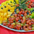 Fresh fruit party platter — Stock Photo