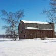 Weathered old barn in winter — Stock Photo #41235937