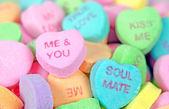 Coeurs de bonbons de saint-valentin — Photo