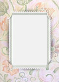 Floral frame with slit corners — Stock Photo