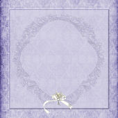 Purple damask wedding background — Stock Photo