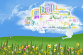 Spring Cloud Collage — Stock Photo