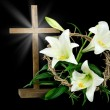 Easter cross and crown — Stock Photo #45653993
