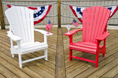 Adirondack chairs with flags — Stock Photo