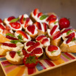 Stock Photo: Strawberry toasts