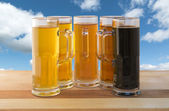 Beer flight — Stock Photo