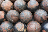 Cannon balls — Stock Photo