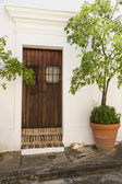 Spanish door — Stock Photo