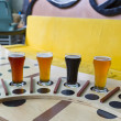 Stock Photo: Beer flight