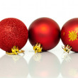 Royalty-Free Stock Photo: Red Christmas tree baubles decorations at xmas