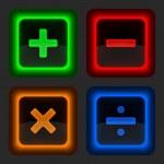 Постер, плакат: Colored web button with math symbols
