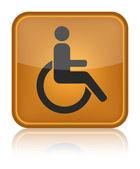 Handicap or wheelchair person symbol — Stock Vector