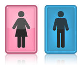 Icon toilet, Man & Woman — Stock Vector