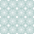Seamless green illustration of tangier grid, abstract guilloche — 图库矢量图片