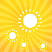 Abstract web design background with sun with sun rays. — Stock Vector