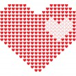 Vector de stock : Pixel heart.