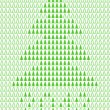 Vector de stock : Christmas background with pixel Christmas tree.